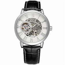 FORSINING AUTOMETIC MECHANICAL WATCH FOR MEN | PLATINUM SILVER