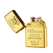 24K-GOLD PLATED DOUBLE ARC ZIPPO