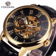 FORSINING AUTOMETIC MECHANICAL WATCH FOR MEN | SKELETON GOLD