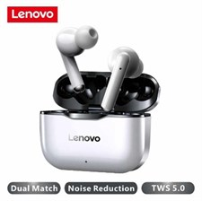 Lenovo Lp1 True Wireless Earpods | Dual Stereo Noise Reduction - High Bass - Touch Control - 300mAH
